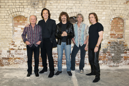 Current Zombies: Jim Rodford (bass), Blunstone, Argent, Steve Rodford (drums), Tom Toomey (guitar).