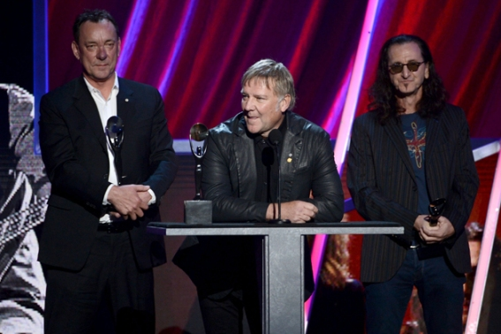 Rush finally gets their due: Neil Peart, Alex Lifeson, and Geddy Lee
