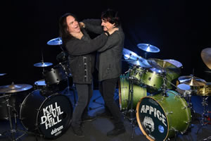 "Vinny and Carmine Appice go for the throat in their ""Drum Wars"" shows. Courtesy of CarmineAppice.com"