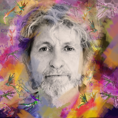 Jon Anderson today. Collage by Deborah Anderson.
