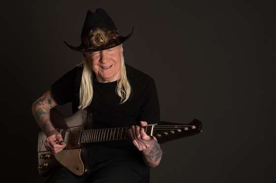 Johnny Winter today. Photo by Michael Weintraub for Sony.