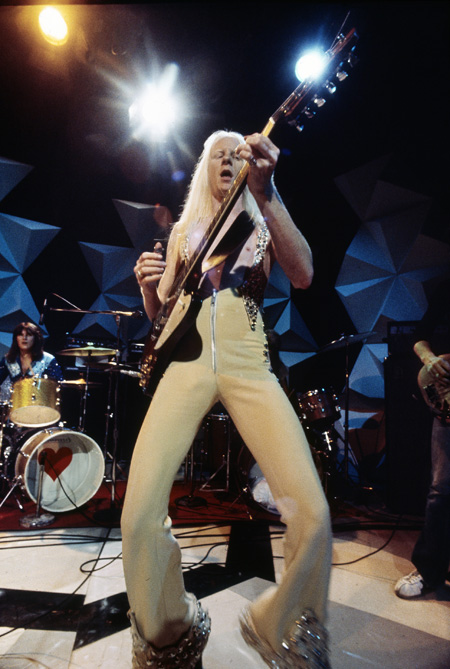 Johnny Winter shreds back in the day. Photo courtesy of Sony.