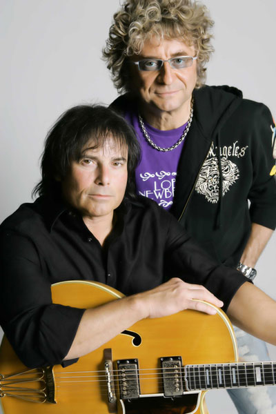 Peterik (right) with former Survivor singer Jimi Jamison worked together after the band dissolved.