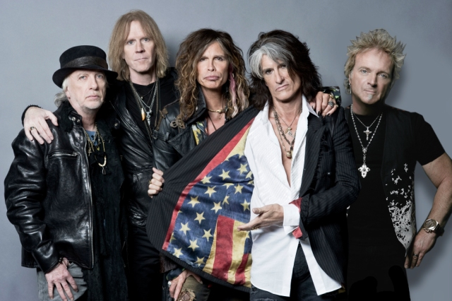 Bloodbrothers - Aerosmith today: Brad Whitford, Tom Hamilton, Steven Tyler, Joe Perry, and Joey Kramer.