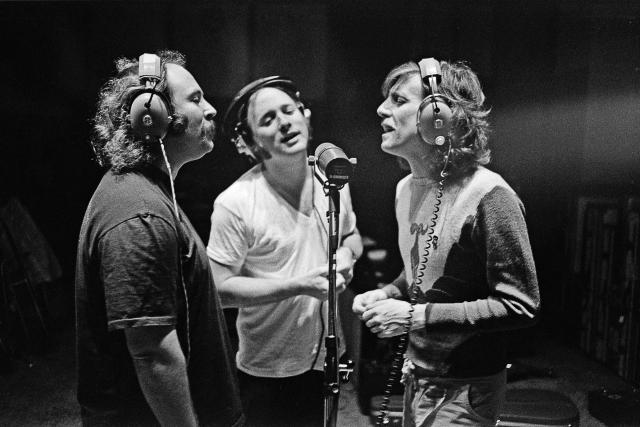 CSN at Criteria Recording Studios, Miami, March 1977 (Joel Bernstein)