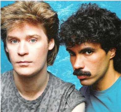 Hall & Oates in their peak commercial period. Oates' mustache went on to pop culture fame of its own.